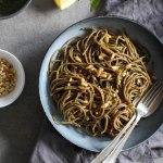 Wild garlic pesto with spelt pasta - plant based, refined sugar free, vegan - heavenlynnhealthy.com