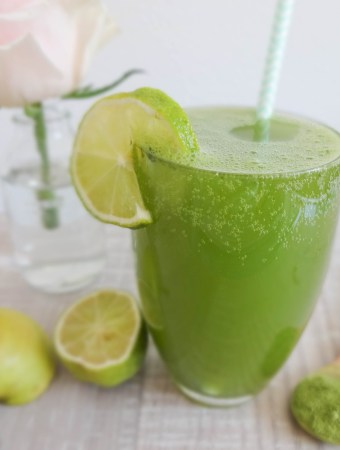 Refreshing Matcha Apple Spritzer
