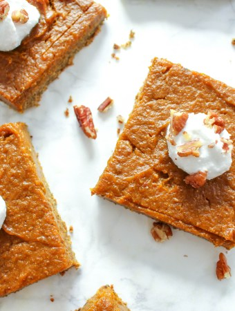 Healthy Pumpkin Pie Squares