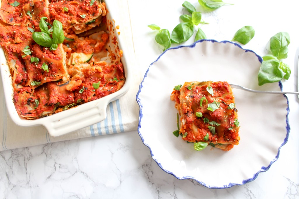 Healthy Cauliflower Lasagna - plant-based, vegan, gluten free, refined sugar free - heavenlynnhealthy.com