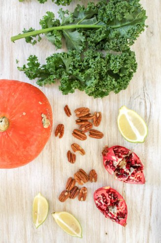 Massaged Kale Salad with Roasted Pumpkin Squash - plant based, vegan, gluten free, refined sugar free - heavenlynnhealthy.com