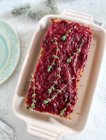 Lentil-Loaf with Cranberry Sauce
