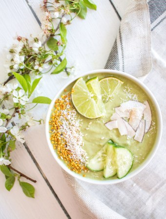Refreshing Cucumber and Lime Smoothie (Key Lime Smoothie)