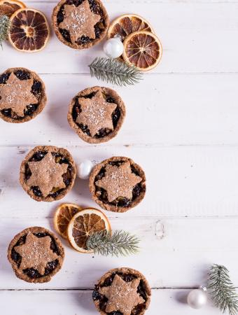 Christmas menu dessert: Healthy Mince Pies