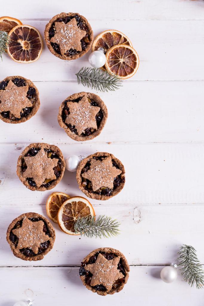 Healthy Mince Pies - vegan, plant based, gluten free, refined sugar free - heavenlynnhealthy.com