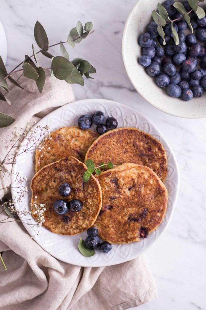 Healthy Blueberry Millet Pancakes - plant-based, vegan, gluten free, refined sugar free - heavenlynnhealthy.com