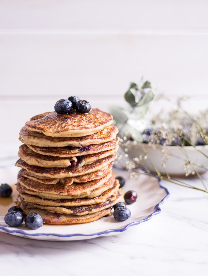 Healthy Blueberry Millet Pancakes - plant-based, vegan, gluten free, refined sugar free - heavenlynnhealthy.com