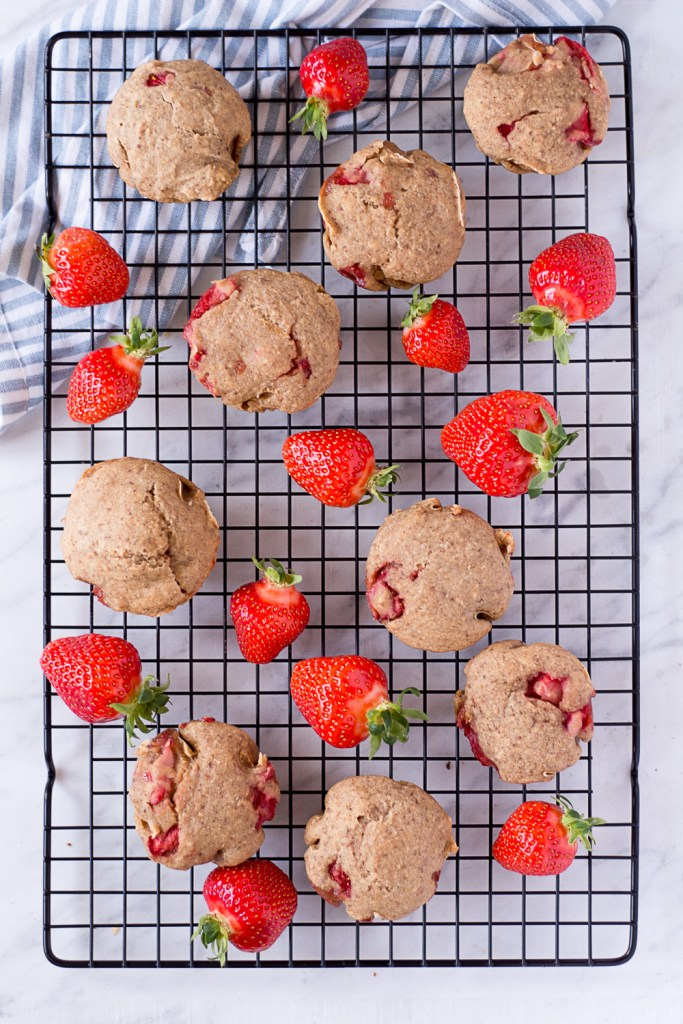Healthy Strawberry Muffins - plant-based, vegan, gluten free, refined sugar free - heavenlynnhealthy.com