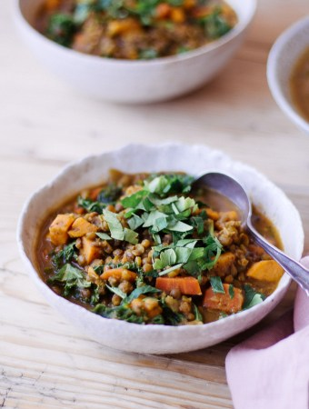 Persian-Inspired Lentil and Kale Soup