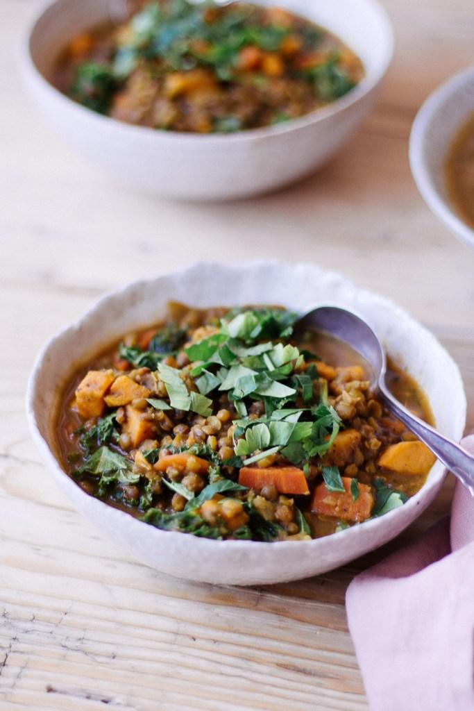 Persian-Inspired Lentil and Kale Soup - plant-based, vegan, gluten free, refined sugar free - heavenlynnhealthy.com