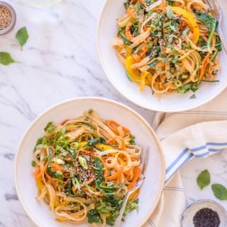 Asian Sesame Noodles - plant-based, vegan, gluten free, refined sugar free - heavenlynnhealthy.com