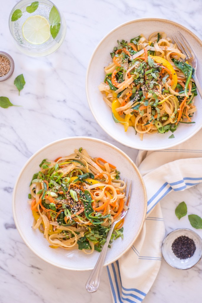 Asian Sesame Noodles - plant-based, vegan, gluten free, refined sugar free - heavenlynnhealthy.com