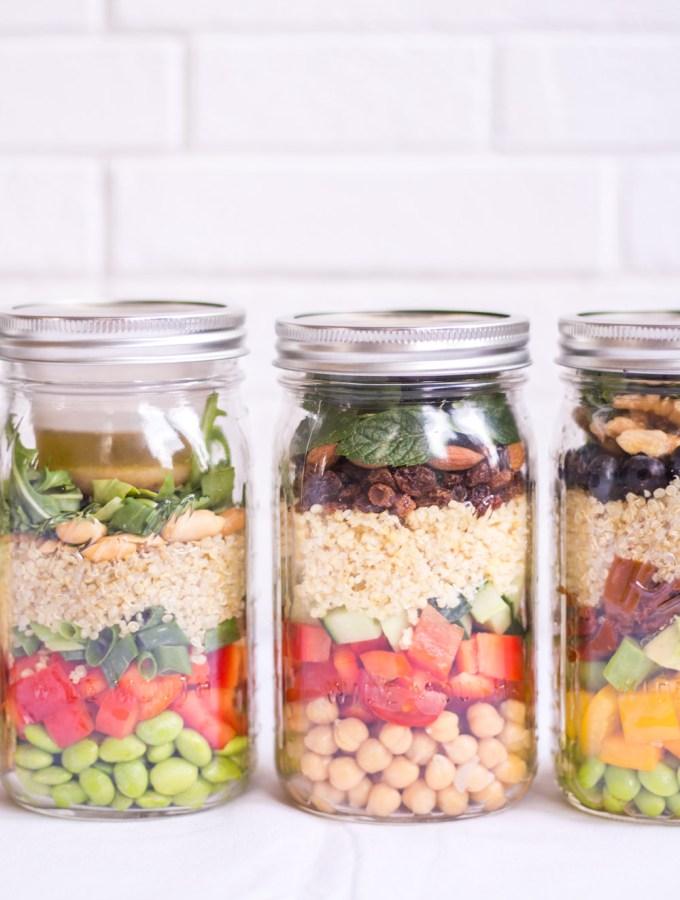 Mason Jar Salads to Go - plant-based, vegan, gluten free, refined sugar free - heavenlynnhealthy.com