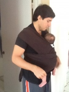 Jasmin and daddy wrapped up