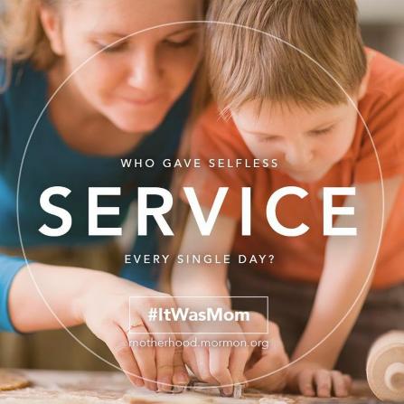 Serving mom