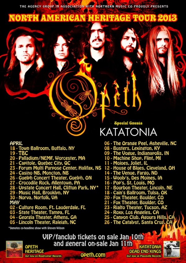 Opeth Tour 2013