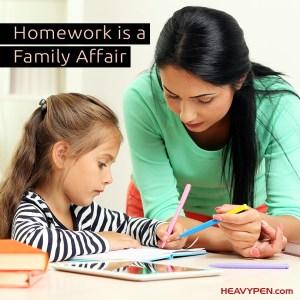 Homework is a family affair