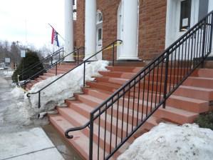 Potsdam library iron hand rails