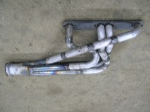 Custom Jeep Chevy small block equal length in frame header passenger side