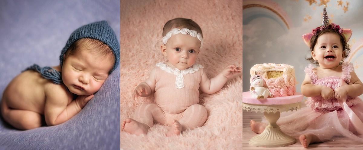 muestra de las distintas categorias en fotografia de bebés