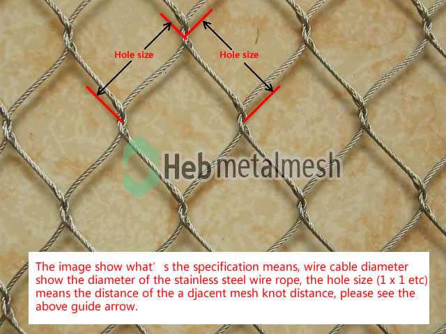 Bird netting fence, aviary mesh, wire rope mesh fence for bird cages ...
