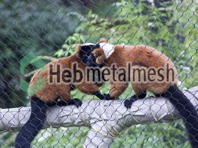 stainless steel mesh for monkey exhibit, monkey enclosures, monkey cage