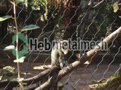 monkey exhibit fence manufactruer, monkey enclosure mesh, monkey cage mesh