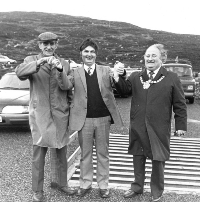 Rhenigidale road opening by Bill Lucas