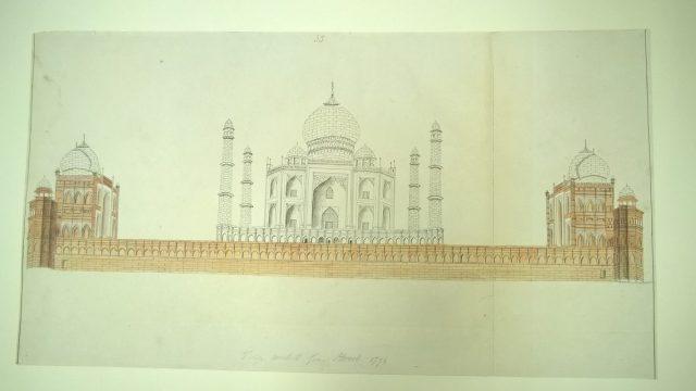 Mackenzie drawing Taj Mahal