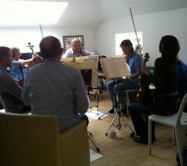 Ballantyne rehearsal in Craig Armstrong studio