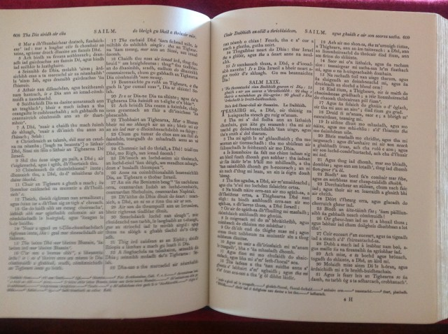 Psalm book, pictured for Ballantyne