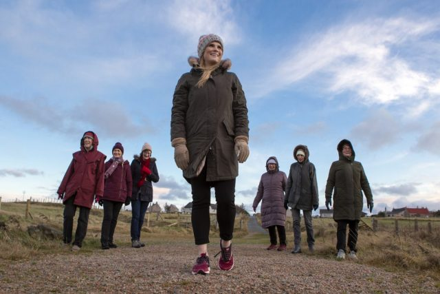The Women For Mission walking group from Garrabost Free Church