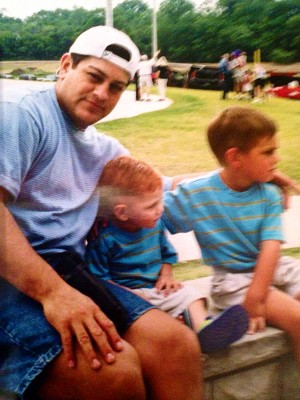 Miguel Gutierrez with his two sons Mikey (far right) and Danny. Provided photo