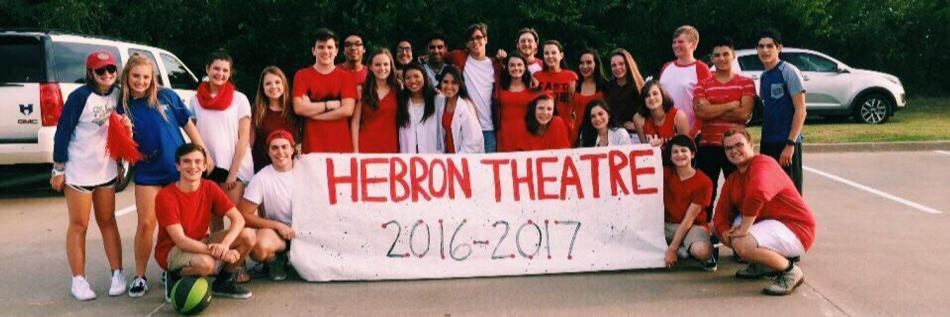 Hebron+Theatre+together+at+the+Homecoming+Parade.