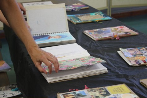 Senior artists paint mural for Bed Bath & Beyond
