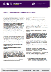 MBIE Height Safety FAQ