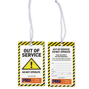 Caution Out Of Service Tags