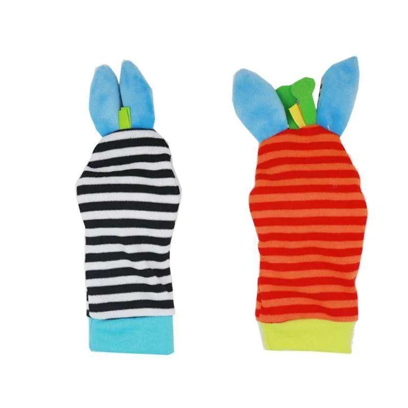 Baby Rattle Toy wrist Socks