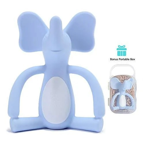 Elephant Teether - Blue