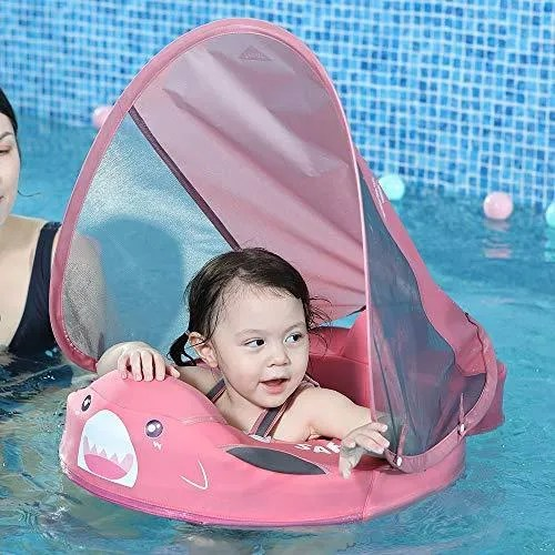 Mambobaby Baby Shark Float with Sun Canopy – Pink (Limited Edition)