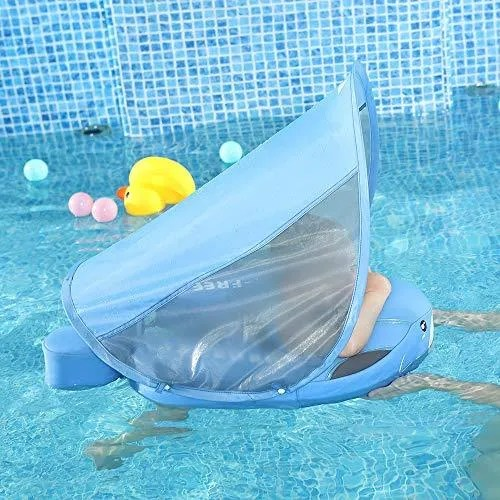 Mambobaby Baby Shark Float with Canopy - Blue