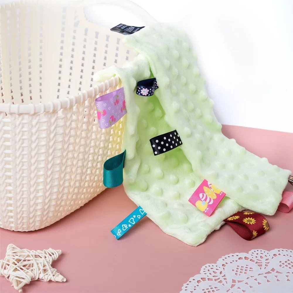 security tag blanket green for babies