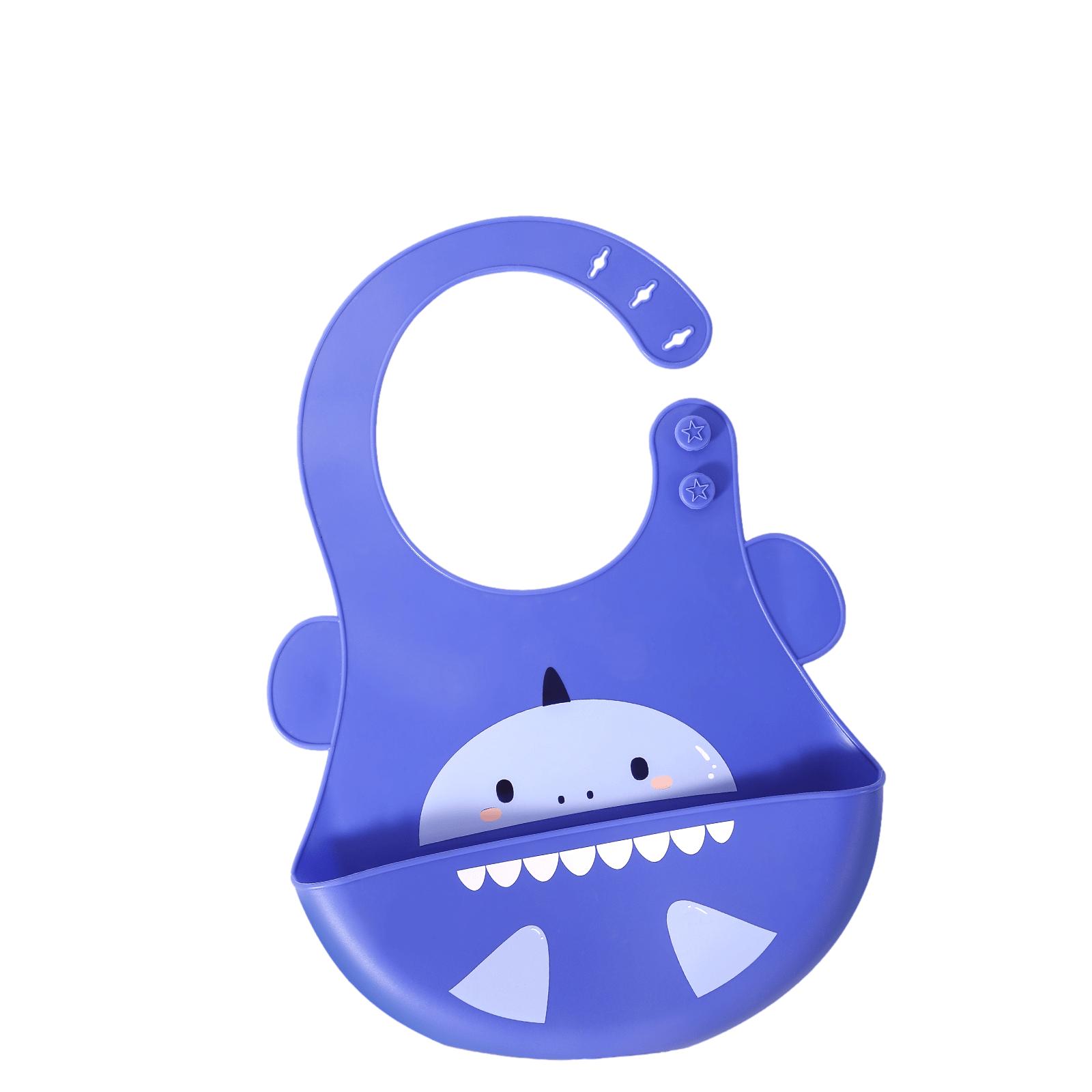Adjustable bib(shark-blue)