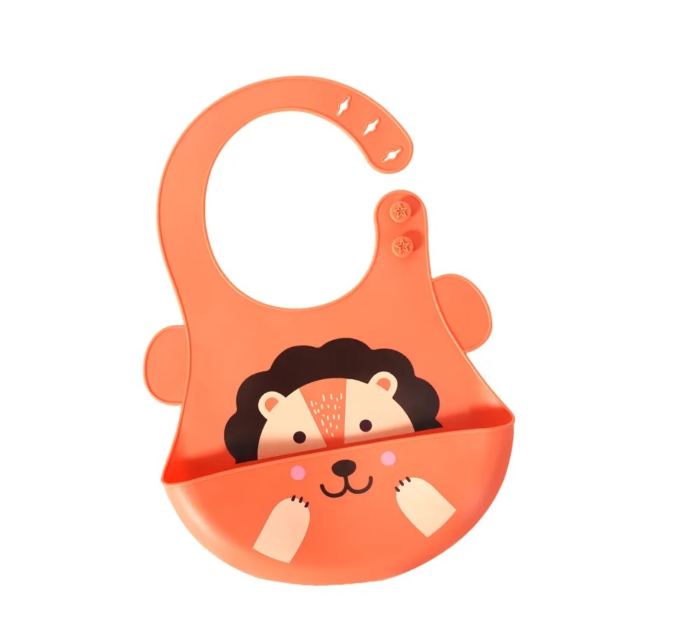 Adjustable-Bib(lion-orange)