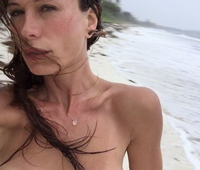 These Private Photos Show Lying Topless In Bed And Includes Two Shots Of Her Hairy Crotch She Seems To Have Removed Her Breast Implants So These Are Shots