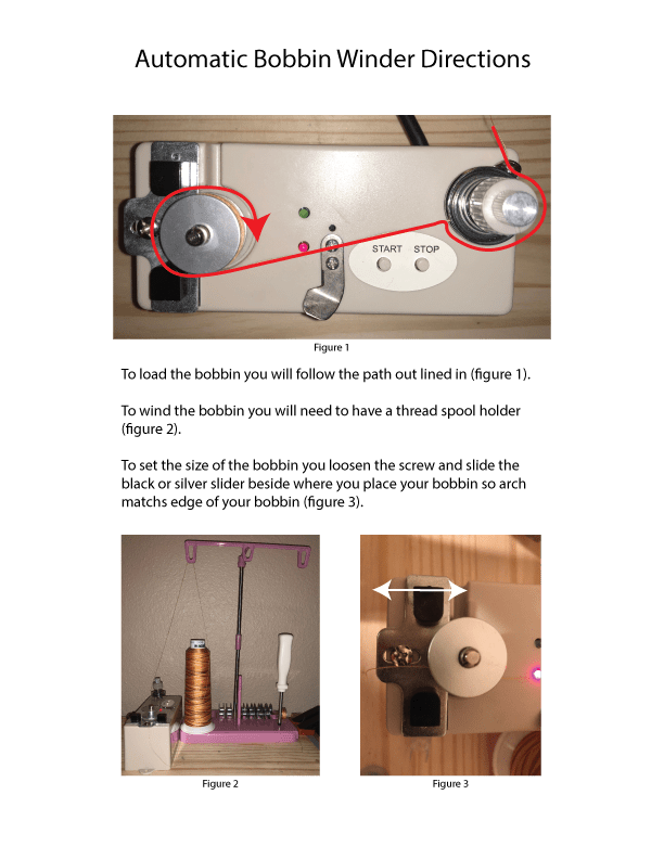 Automatic Bobbin Winder Instructions