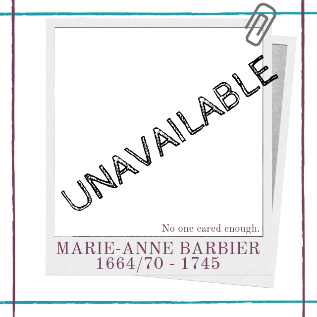 Biography of eighteenth century French female playwright Marie-Anne Barbier by Hedda House.