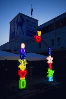 """""""Das Glueckstor"""" von Designerin Maria Christina Hamel befindet sich bei der Firma Koziol in Erbach/Odenwald"""