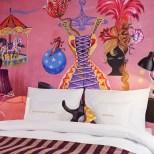Zimmer des 25hours Hotel Wien, verschiedene Größen, verschiedene Farben und Zirkusmotive (Fotos 25hours Hotel)