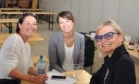 Perfekte Organisation des Pressetermines: MMag. Vanessa Klein, ORF (Mitte) (Foto Reinhard Sudy)